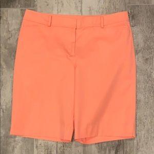 Peach Colored Bermuda Length Shorts
